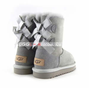 Ugg Kids Bailey Bow II - Grey Violet