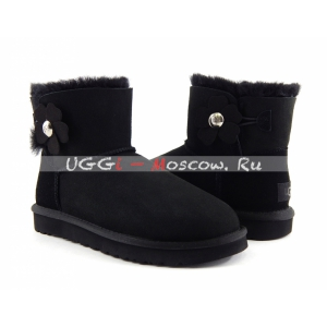 Ugg Mini Bailey Button II Poppy Boot - Black