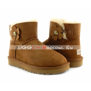 Ugg Mini Bailey Button II Poppy Boot - Lchestnut