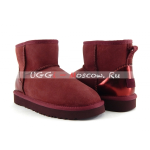Ugg Women Classic Mini II Metallic - Port