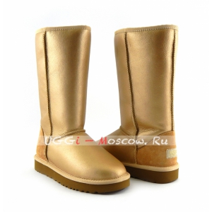Ugg Women Classic Tall Metallic - Gold
