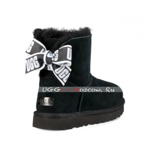 Ugg Bailey Bow Mini CUSTOMIZABLE Boot - Black