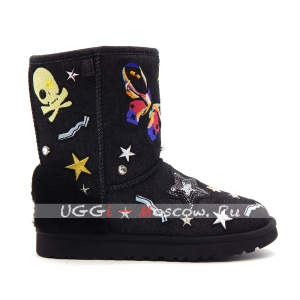 Ugg Classic Short PATCH IT - Black