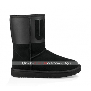 Ugg Classic Short RUBBER Boot - Black