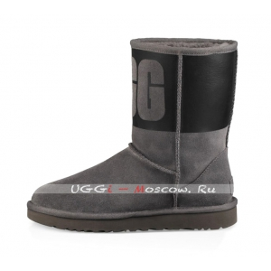 Ugg Classic Short RUBBER Boot - Grey / Black