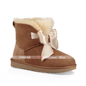 Ugg GITA Bow Mini Boot - Chestnut