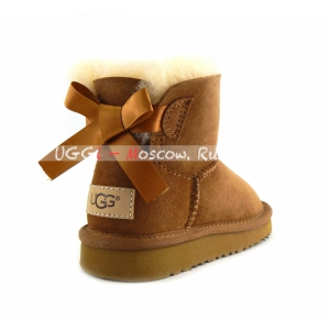 Ugg Kids Mini Bailey Bow II - Chestnut