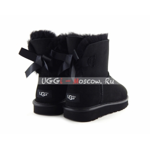 Ugg Mini Bailey Bow II Metallic - Black