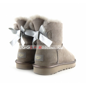 Ugg Mini Bailey Bow II Metallic - Grey Violet