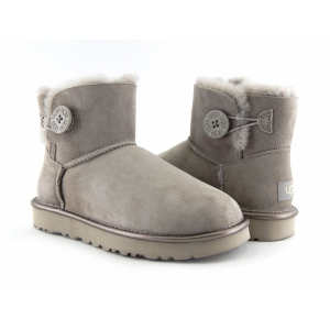 Ugg Women Bailey Button II Metallic - Grey Violet
