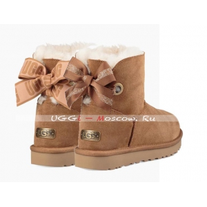 Ugg Bailey Bow Mini CUSTOMIZABLE Boot - Chestnut