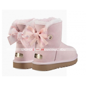 Ugg Bailey Bow Mini CUSTOMIZABLE Boot - Seashell Pink
