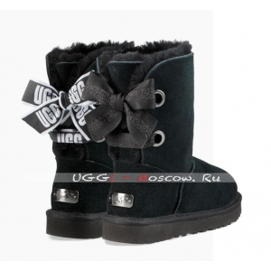 Ugg Bailey Bow Short CUSTOMIZABLE Boot - Black