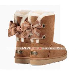 Ugg Bailey Bow Short CUSTOMIZABLE Boot - Chestnut