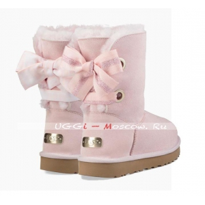 Ugg Bailey Bow Short CUSTOMIZABLE Boot - Seashell Pink
