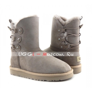 Ugg Puff Momma Classic Short Boot - Grey