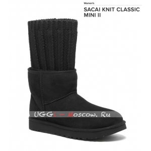 SACAI KNIT CLASSIC MINI II BLACK