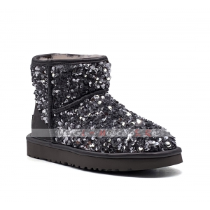 Ugg Mini SPARKLES MIRACLE Boot - Black