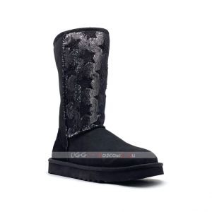 Ugg Tall SHABBY STAR Boot - Black