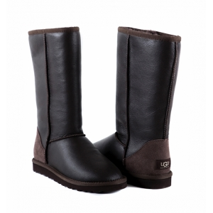 UGG Women Metallic Tall - Chocolate