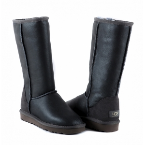 UGG Women Metallic Tall - Grey
