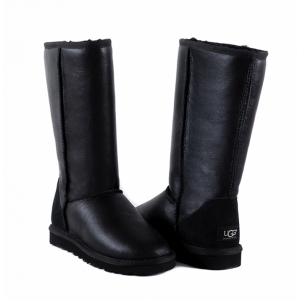 UGG Women Metallic Tall - Black