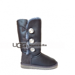 UGG Women Bailey Bling Tall Metallic - Grey
