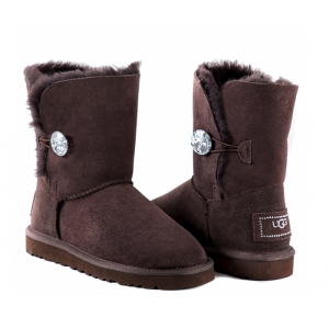 UGG Women Bailey Bling Short - Chocolate