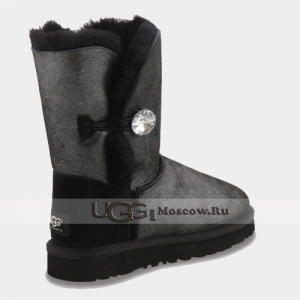 UGG Women Bailey Button Glitter - Black