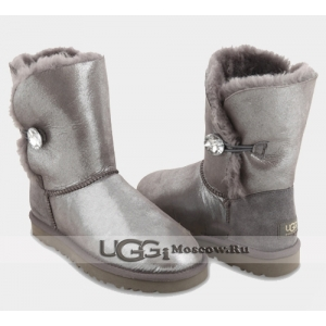 UGG Women Bailey Button Glitter - Grey