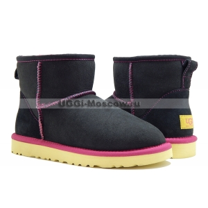 UGG Women Classic Mini - Black Yellow