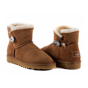 UGG Bailey Button Mini Bling - Chestnut