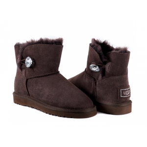 UGG Bailey Button Mini Bling - Chocolate