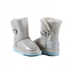 UGG Kids Bailey Button I Do - White