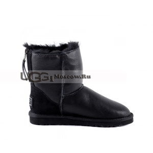 Ugg Women Zip Mini Metallic - Black