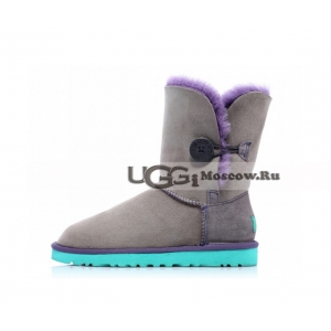 Ugg Women Bailey Button - Grey and Aqua