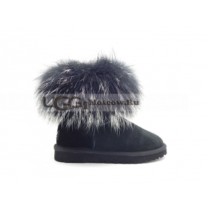 UGG Women With Silver Fur mini - Black