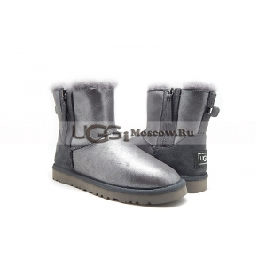 Ugg Women Mini Double Zip Glitter - Grey