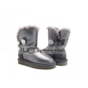 UGG Kids Bailey Bling Glitter - Grey
