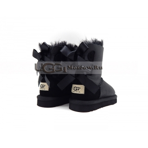 Ugg Kids Toddlers Bailey Bow Metallic - Black