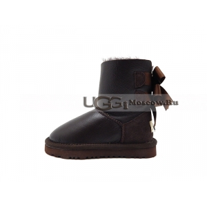 Ugg Kids Toddlers Bailey Bow Metallic - Chocolate
