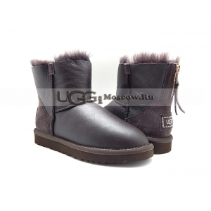 Ugg Women Zip Mini Metallic - Chocolate