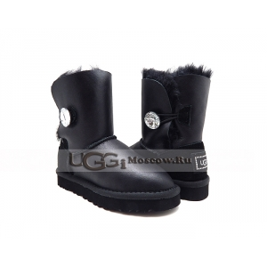 Ugg Kids Bailey Button Bling Metallic - Black