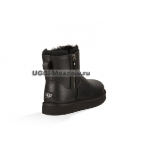 Ugg Women Mini Double Zip Metallic - Black