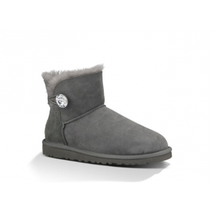 UGG Bailey Button Mini Bling - Grey