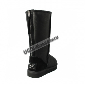 UGG Women Tall Zip Metallic - Black