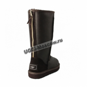 UGG Women Tall Zip Metallic - Chocolate