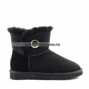 UGG Mini Bailey Button Ornate - Black