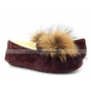 UGG Moccasins Dakota Pom Pom - Port