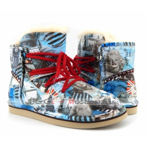 UGG & Jimmy Choo Travel Fur - Blue